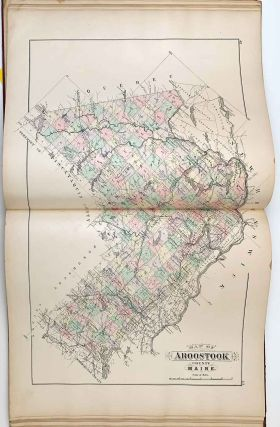 Stuart's Atlas of the State of Maine Including Statistics and Descriptions of its History, Educational system, Geology, Railroads, Natural Resources, Summer Resorts and Manufacturing Interests.