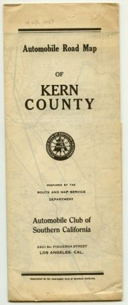 Automobile Road Map of Kern County. CALIFORNIA - ROAD MAP