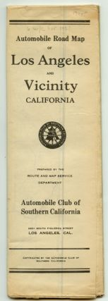Automobile Road Map of Los Angeles and Vicinity California. CALIFORNIA - LOS ANGELES - ROAD MAP
