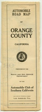 Automobile Road Map of Orange County California. CALIFORNIA - ROAD MAP