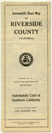 Automobile Road Map of Riverside County California. CALIFORNIA - ROAD MAP