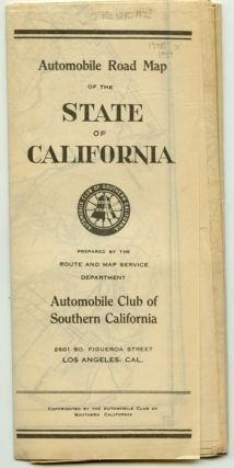 Automobile Road Map of the State of California. CALIFORNIA - ROAD MAP