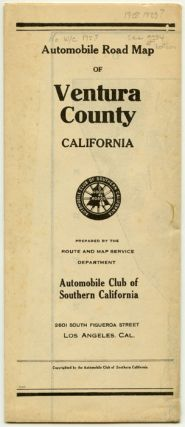 Automobile Road Map of Ventura County California. CALIFORNIA - ROAD MAP