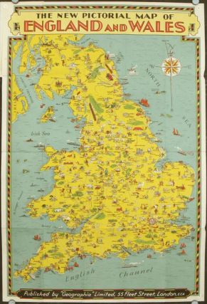 The New Pictorial Map of England and Wales. ENGLAND, WALES