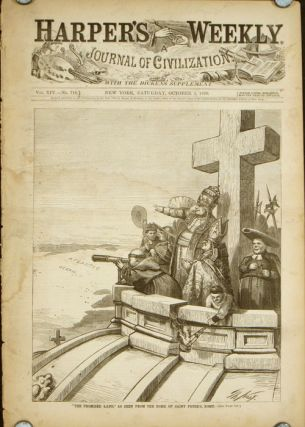 "Harper's Weekly. COMPLETE ISSUE, Front cover illustration: ""The Promised Land,"" As Seen From the..."