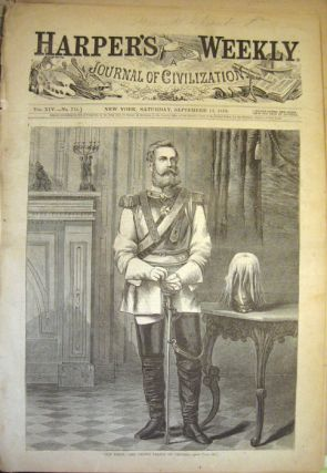 "Harper's Weekly. COMPLETE ISSUE, Front cover illustration: ""Our Fritz,"" The Crown Prince of..."