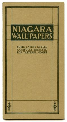 Niagara Wall Papers: Some Latest Styles Carefully Selected for Tasteful Homes.