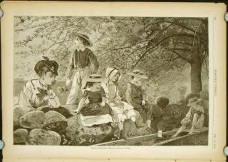 Harper's Weekly. COMPLETE ISSUE, Front cover illustration: A Spring Scene Near Richmond,...
