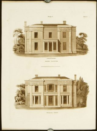 Design 8. Conservatory - Garden Elevation. Principal Front. BRITISH ARCHITECTURE - REGENCY,...