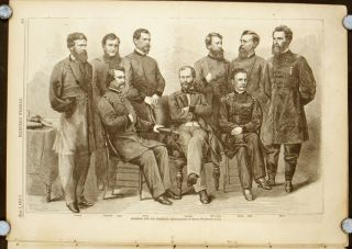 Sherman and His Generals. In COMPLETE ISSUE OF HARPER'S WEEKLY July 1, 1865. LINCOLN CONSPIRATORS