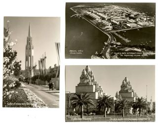 10 photographic postcards of the Golden Gate International Exposition, San Francisco, California....