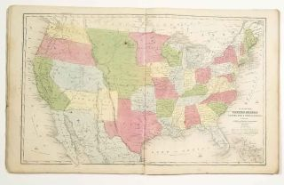 Olney's School Atlas. ATLAS - UNITED STATES, WORLD - 1853