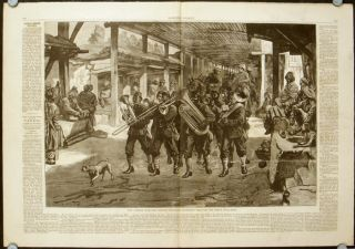 The Afghan War - The Fourth Goorkhas Marching through the Bazar, Jelalabad. WITH Execution of a Ghazi, or Mohammedan Fanatic, at the Peshawru Gate, Jelalabad. AND The Afghan War - Entry of General Sir Samuel Browne into Jelalabad.