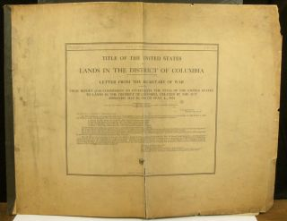 Map of the Public Lands Under Federal Jurisdiction in the District of Columbia ... from Information obtained by the Commission to Investigate Title of United States Lands in the District of Columbia 1915.