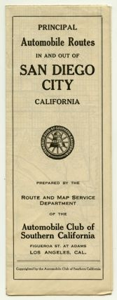 Principle Automobile Routes In and Out of San Diego City California. CALIFORNIA - SAN DIEGO