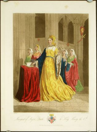 Margaret of Anjou, Queen to King Henry the 6th. 1450. ENGLAND - HISTORICAL COSTUMES