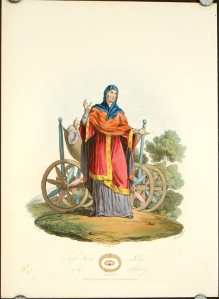 Anglo Saxon Lady of the IX Century. ENGLAND - HISTORICAL COSTUMES