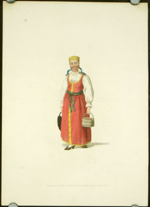 An Unmarried Female of Waldai. COSTUME - RUSSIAN EMPIRE