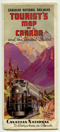 Canadian National Railways Tourist's Map of Canada and the United States. Map title: Canadian National Railway System