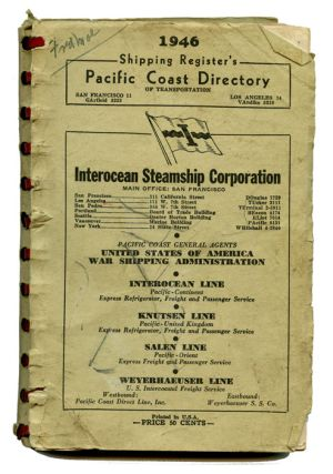 1946 Shipping Register's Pacific Coast Directory. STEAMSHIPS - BUSINESS DIRECTORY
