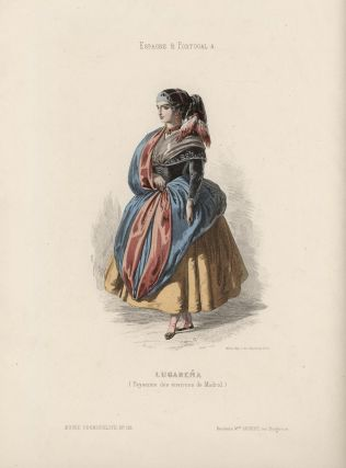 Lugarena (Paysanne des environs de Madrid). (SPANISH WOMAN IN LOCAL COSTUME). SPAIN - MADRID -...