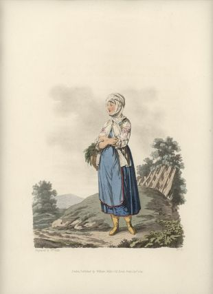 A Sclavonian Country Girl, of the County of Neutra. AUSTRIA - NEUTRA