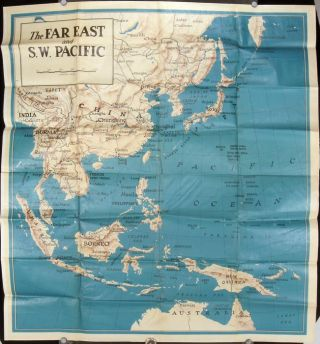The Far East and S. W. Pacific. ASIA - WORLD WAR II.