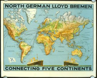 North German Lloyd Bremen Connecting Five Continents. NORTH GERMAN LLOYD
