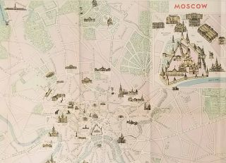 Map of Moscow. Map title: Moscow.