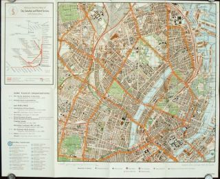 Map of Copenhagen. DENMARK - COPENHAGEN