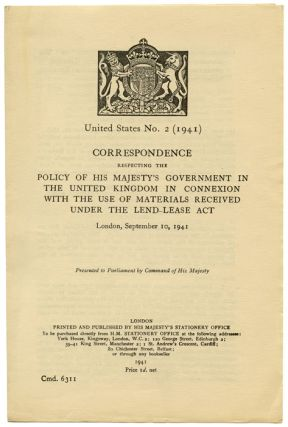Correspondence Respecting the Policy of His Majesty's Government in the United Kingdom in...
