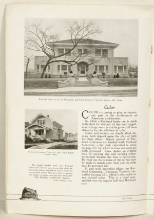 Rocbond Exterior Stucco. Cover title: Homey Homes. 1920s HOME BUILDING MATERIALS: STUCCO