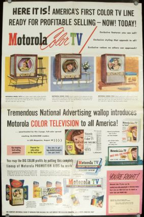 Now Motorola TV presents America's First Practical Color Television with Giant 205 Sq. In....