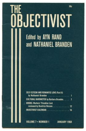 The Objectivist (Magazine) 1968. OBJECTIVIST PHILOSOPHY, Ayn Rand