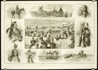 The Indian Trouble in America. NATIVE AMERICAN INDIANS