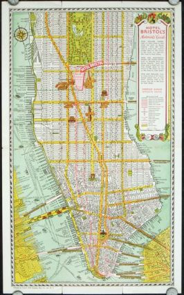 Map of New York. Hotel Bristol. Map title: Hotel Bristol's Motorists Guide. NEW YORK - NEW YORK...