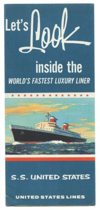 Let's Look inside the World's Fastest Luxury Liner. S.S. United States. UNITED STATES LINES