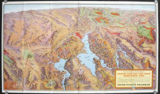 Las Vegas. Hoover Dam. Lake Mead National Recreation Area. Union Pacific Railroad. (Map...