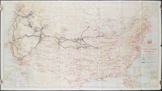 Military Map of the United States. Union Pacific. The Strategic Middle Route.
