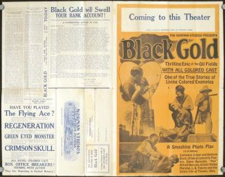 Black Gold. A Super Feature with an ALL COLORED CAST in Six Reels. MOVIES / AFRICAN AMERICANA.