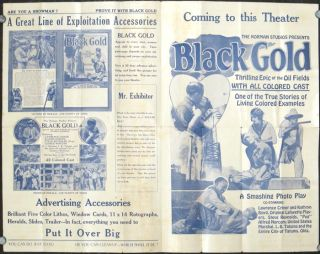 Black Gold. A Super Feature with an all colored caste in Six Reels.