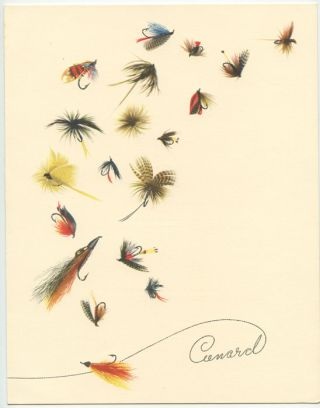 Cunard Menu (Fly Fishing). CUNARD.