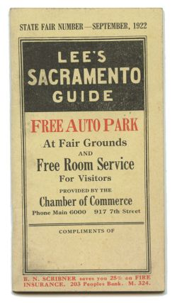 Lee's Sacramento Guide. CALIFORNIA - SACRAMENTO, A. G. Lee