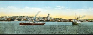 The Port of Seattle. Panorama View of Seattle Waterfront.