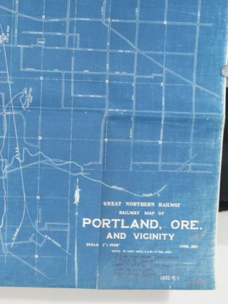 Great Northern Railway. Railway Map of Portland, Ore. and Vicinity. June 1927.