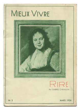 Mieux Vivre. March 1936. Laughter. GABRIEL CHEVALLIER
