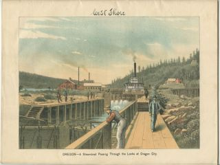 West Shore. An Illustrated Journal. OREGON - PORTLAND / OREGON CITY