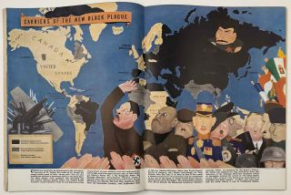 "Ken. The Insider's World. April 7th. 1938. VOLUME 1, NUMBER 1. [COLOR PICTORIAL MAP ""Carriers..."