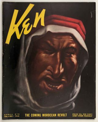 """Ken. The Insider's World. April 7th. 1938. VOLUME 1, NUMBER 1. [COLOR PICTORIAL MAP """"Carriers of the New Black Plague""""]."""