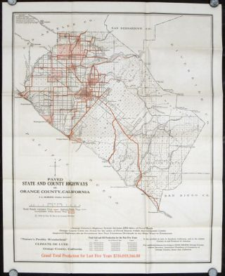 Paved State and County Highways in Orange County California. CALIFORNIA - ORANGE COUNTY
